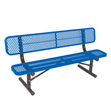 6' Bench w/ Back - Portable Diamond