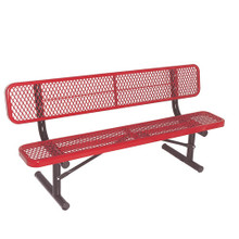 8' Bench w/ Back - Portable Diamond