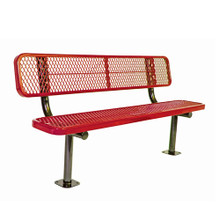 6' Bench w/ Back - Surf ace Mnt. Diamond