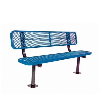 8' Bench w/ Back - Surf ace Mnt Diamond