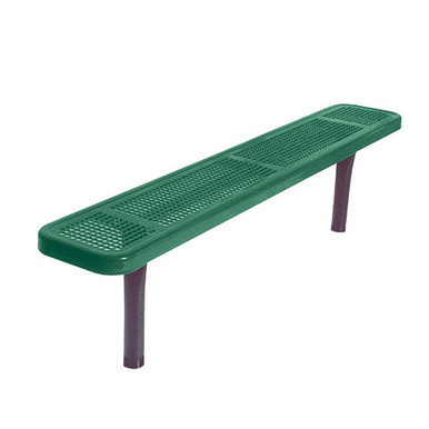 6' Park Bench w/o Back-In-Ground Perf.