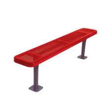 8' Park Bench w/o Back-Surf. Mnt Perf.