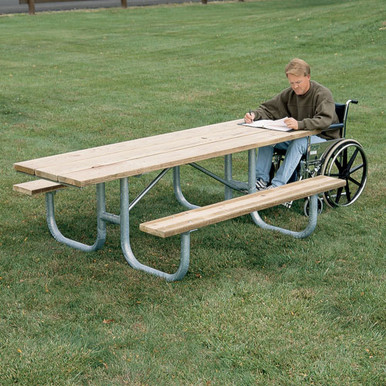8' Two Sided  ADA PicnicTable - Wood