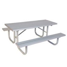 6' H-D Picnic Table - Aluminum