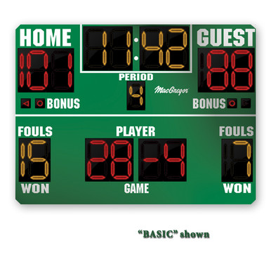 BSN SPORTS 8' x 5' Basketball Scoreboard w/ Timeouts Left