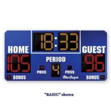 BSN SPORTS 8' x 4' Basketball Scoreboard with Double Bonus