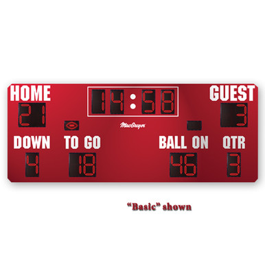 BSN SPORTS 20' x 8' Football Scoreboard w/Time Outs Left