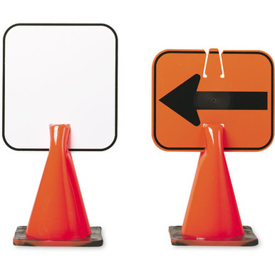 Plastic Clip-On Cone Sign - Blank