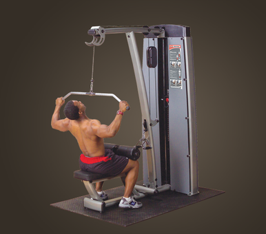 DUAL LAT/ROW-STATION, DGYM 210LB STACK