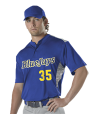 ALLESON ADULT TWO BUTTON STOCK BASEBALL JERSEY