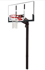 Spalding 54-Inch Acrylic Backboard In-Ground Basketball System - Arena Slam Rim