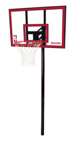 """Spalding NBA 44"""" Polycarbonate Ratchet Lift In-Ground Hoop System"""