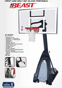 """""""The Beast"""" Spalding Portable Basketball System"""