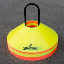 Spalding 20 Pack Training Discs Orange & Yellow with Holder