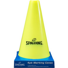 Spalding 4 Pack Yellow Cones 9""