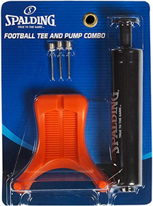 "Spalding Football Kit; 6"" Single Action Pump, Tee,  3 Needles,"