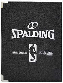 "Spalding 5""X7"" NBA Padfolio Notebook - Black Cover"