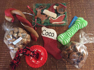 NEW HOLIDAY WOOF PACK!  Delicious goodies and toys for your best pal!