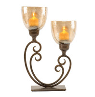 2 Light Hurricane Candle Holder  -  SR005