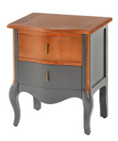 Dawson 2 Drawer Table (Graphite) - NIN001