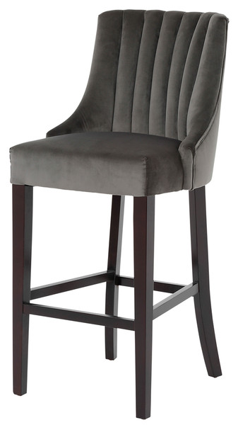 Nico Highback Stool - Gunmetal - MB016
