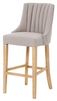 Nico Highback Stool - Linen - MB017