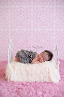 Light Pink Ornate Tile Backdrop – Baby Pink Photography Backdrop - Exclusive Design – Item 1680
