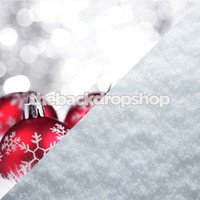 Christmas Ornament Backdrop / Snow Floor Backdrop - Items 1759 & 2144