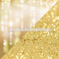 Gold Twinkle Lights Bokeh / Gold Glitter Backdrop - Items 1826 & 1761