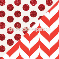 Red Glitter Dots Backdrop / Red Chevron Backdrop - Items 2122 & 1287