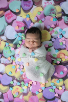 Candy Hearts Photography Backdrop - Item 2162