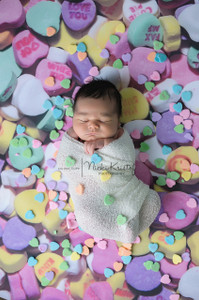 Candy Hearts Photography Backdrop