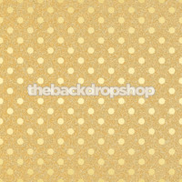 Gold  Glitter Polka Dot Photo Backdrop - Item 2180