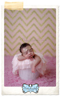 Pink Glitter Chevron Photography Backdrop - Item 2213