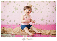 Pink Glitter Stars Photography Backdrop - Item 2258