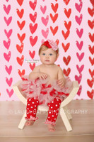 Red and Pink Hearts Photography Backdrop - Items 2277