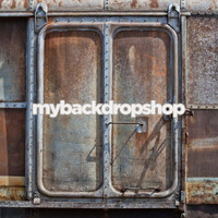 Rusted Metal Train Photo Backdrop - Item 1571