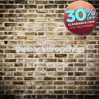 CLEARANCE - VINYL 4ft x 4ft Gray Brown Brick Wall Backdrop for Photography - Fake Brick Floor Drop for Photos - Brick Background - Item 1345