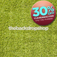 CLEARANCE - VINYL 5ft x 5ft - Grass Floor Photography Backdrop - Green Grass Floor Drop - Item 2006
