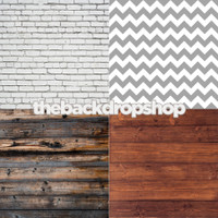 Four Pack Combo for Less - 4 Photography Backdrops - Items 1444, 1170, 1109 & 1293 - As Seen or Mix and Match