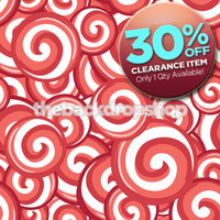 CLEARANCE - VINYL - 5ft x 5ft Candy Cane Peppermint Swirl Backdrop for Photos- Christmas Photography Backdrop for Seasonal Photoshoots - Item 860