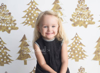 Gold Christmas Tree Backdrop - Item 5500