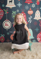 Christmas Ornament Holiday  Chalkboard Photography Backdrop - Item 3028