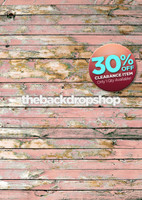 CLEARANCE - VINYL - 5ft x 7ft  Shabby Pink Wood Floor Drop – Peeling Pink Painted Wood Backdrop for Photos – Item 1796