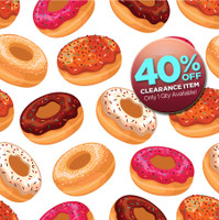 CLEARANCE - VINYL - 4ft x 4ft Childrens Photography Backdrop Prop - Fun Idea for Kids Photoshoots - Donut Theme Vinyl or Poly Background - Item 786