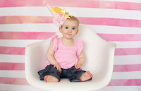 Magenta Pink and White Watercolor Stripe Photography Backdrop - Item 3047