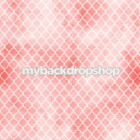 Pink and White Distressed Quatrefoil Tile Photography Backdrop - Item 3050