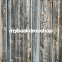 Blue Gray Reclaimed Wood Photography Backdrop - Item 3058