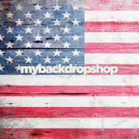 American Flag Photography Backdrop - 4th of July Party Decoration - Item 3080