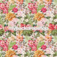 Tropical Flower Botanical Garden Floral Photography Backdrop -  Item 3085